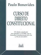Curso De Direito Constitucional - 33 Ed./2018