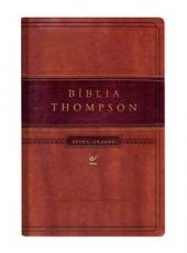 Biblia Thompson - Letra Grande - Capa Marrom Claro E Escuro