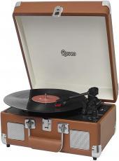 Vitrola Raveo Sonetto Com Alca Toca-discos/radio/usb/bt Brown (marrom) - 90-08747