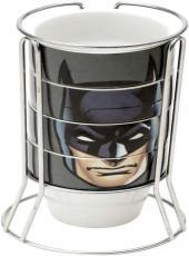 Set C/5pcs Xicara Porcelana Cappuccino Wb Jl Core Batman Face Preto 225ml - 41289