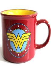 CANECA PORCELANA WB DC OR WW LOGO STARS VERMELHO 380 ML - 43403