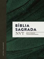 Biblia Sagrada Nvt - Verde - Letra Grande E Brochura Com Orelhas