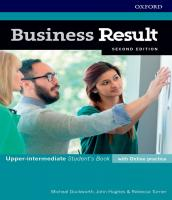Business Result - Upper-intermediate - Student´s Book With Online Practice - 02 Ed