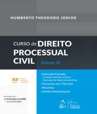 Curso De Direito Processual Civil - Vol Iii - 52 Ed