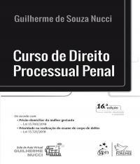CURSO DE DIREITO PROCESSUAL PENAL - 16 ED