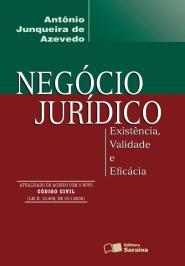 NEGÓCIO JURÍDICO: EXISTÊNCIA, VALIDADE E EFICÁCIA - 4ª EDIÇÃO DE 2002