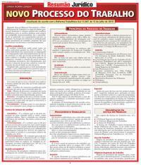 NOVO PROCESSO DO TRABALHO